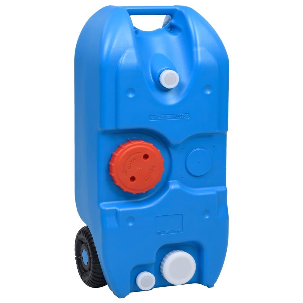 vidaXL Nádrž na vodu na kolečkách na kempování 40 l modrá
