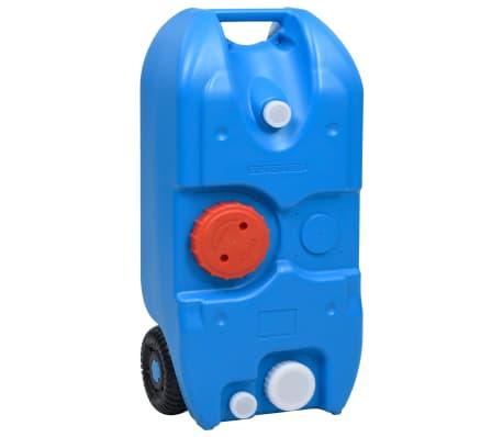 vidaXL Vattentank med hjul för camping 40 L blå