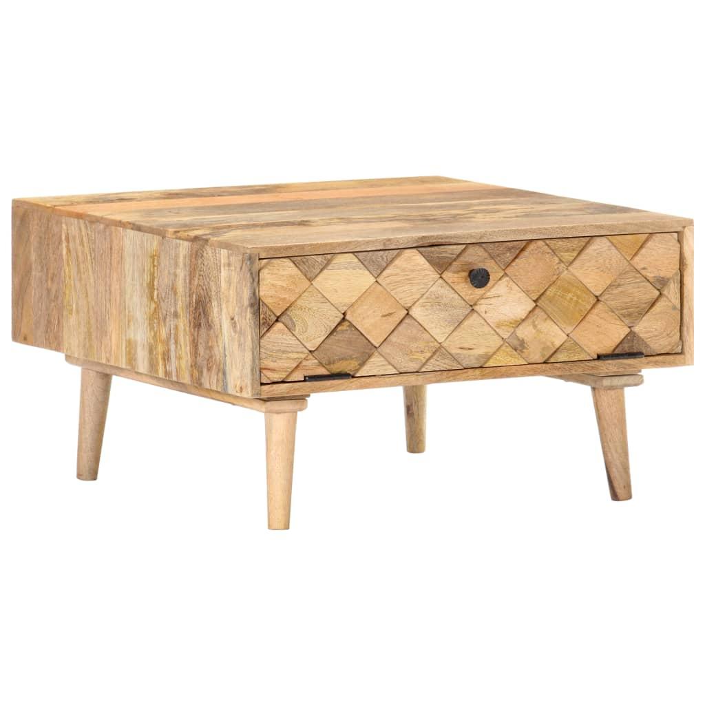 vidaXL Stolik kawowy, 68x68x38 cm, lite drewno mango