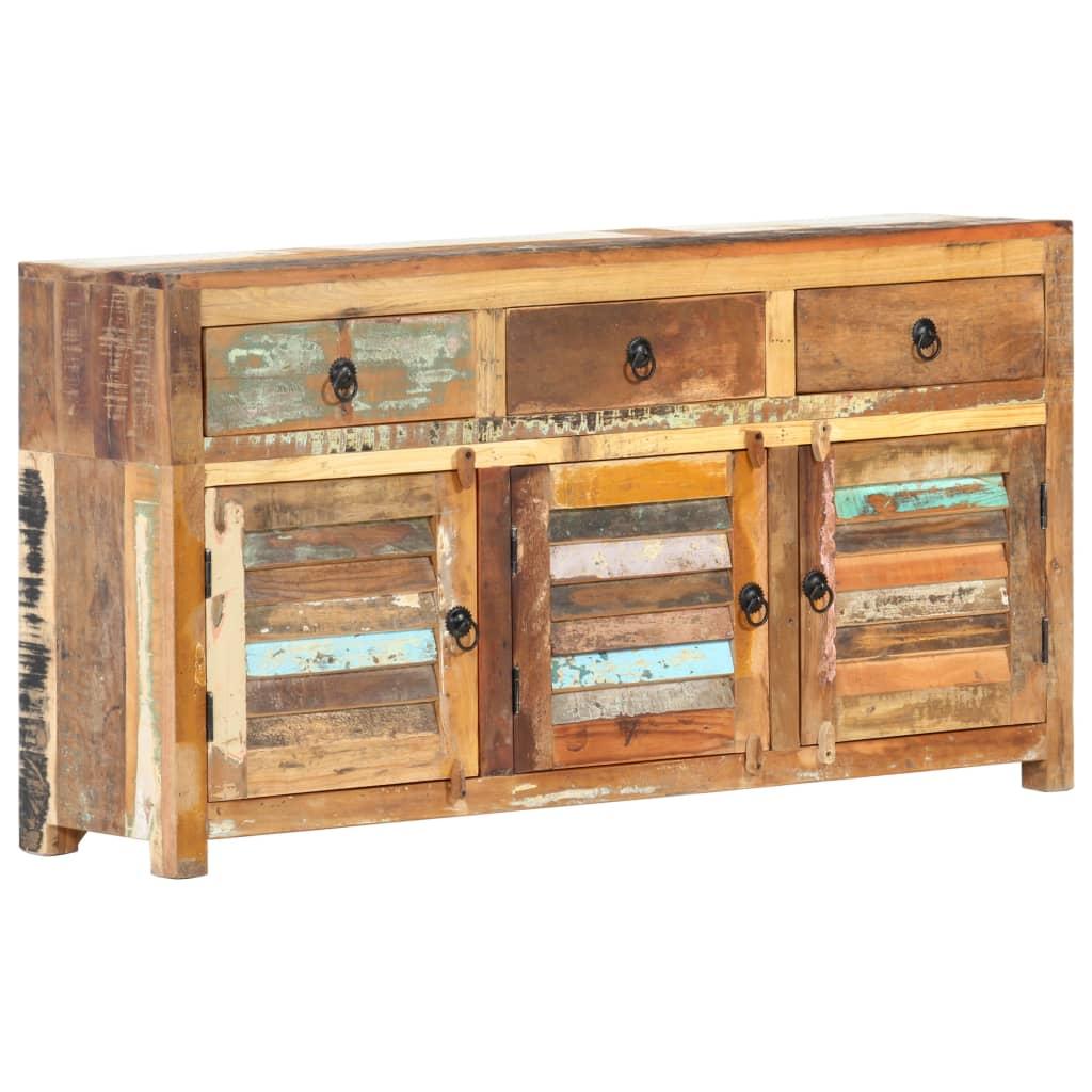 vidaXL Servantă, 120 x 30 x 65 cm, lemn masiv reciclat imagine vidaxl.ro
