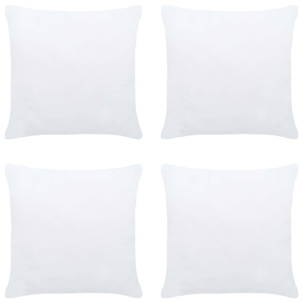 Polštářové výplně 4 ks 30 x 30 cm bílé