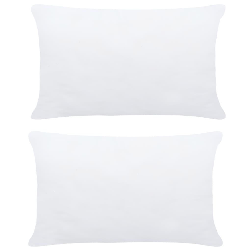 vidaXL Umpluturi de perne, 2 buc., alb, 50 x 30 cm imagine vidaxl.ro