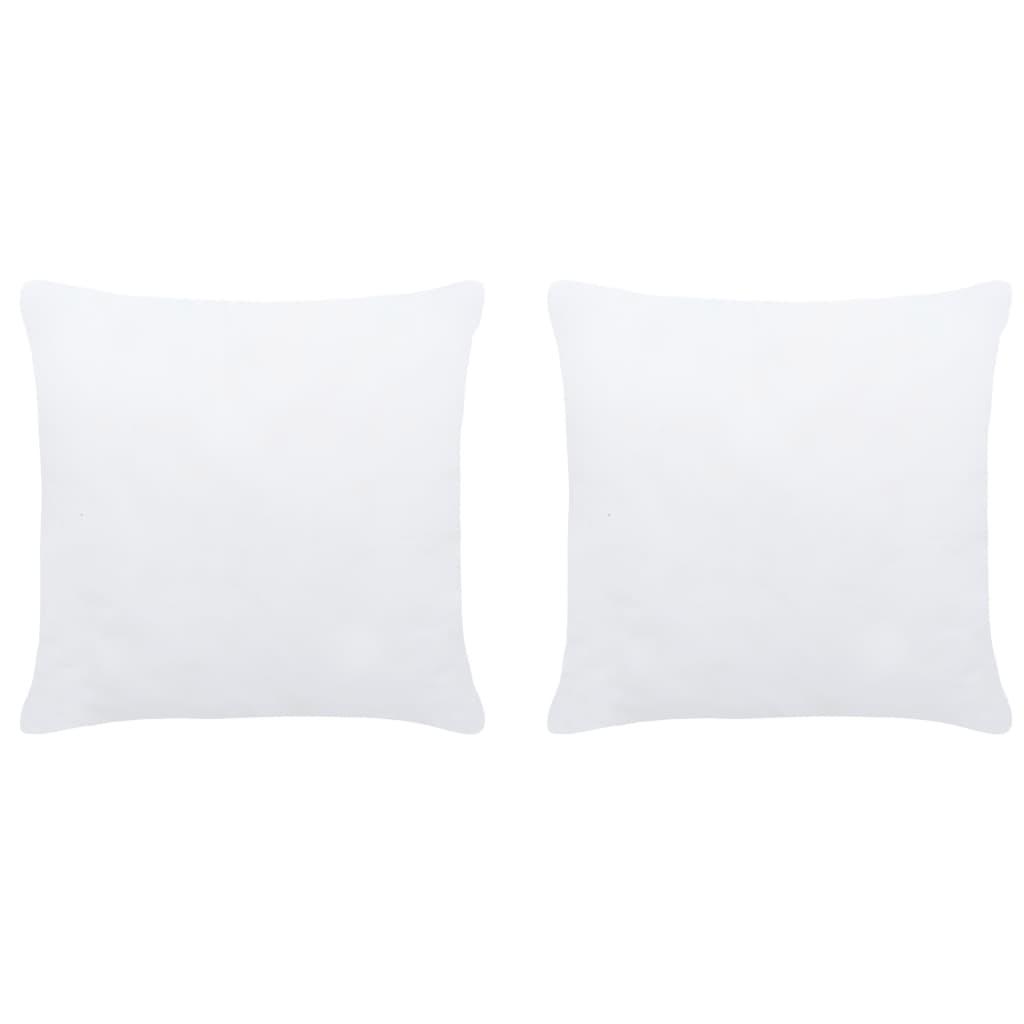 Polštářové výplně 2 ks 40 x 40 cm bílé