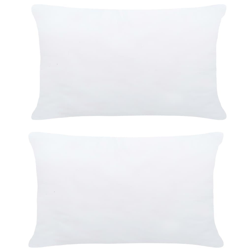 Polštářové výplně 2 ks 60 x 40 cm bílé