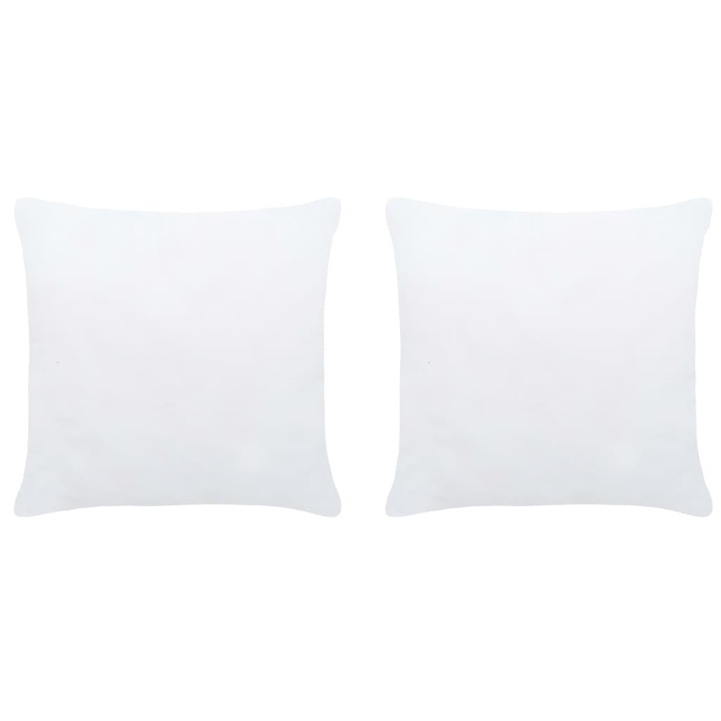 Polštářové výplně 2 ks 45 x 45 cm bílé