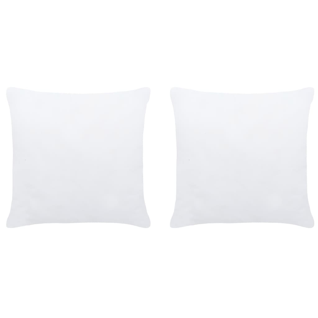 vidaXL Umpluturi de perne, 2 buc., alb, 45 x 45 cm imagine vidaxl.ro