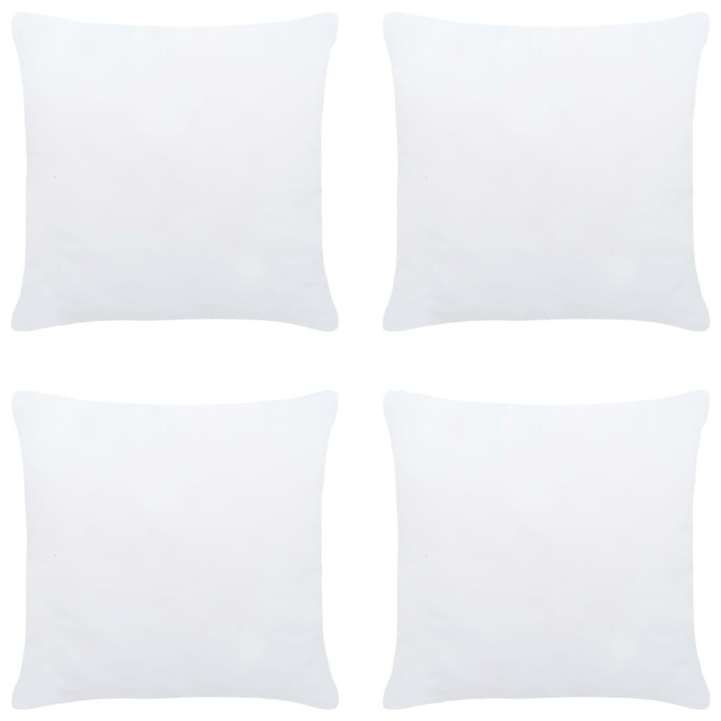 Polštářové výplně 4 ks 50 x 50 cm bílé