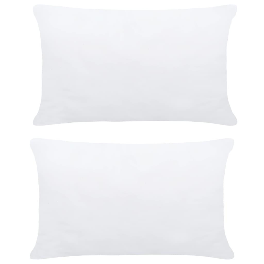 vidaXL Umpluturi de perne, 2 buc., alb, 70 x 50 cm imagine vidaxl.ro