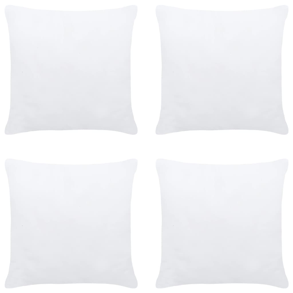 Polštářové výplně 4 ks 60 x 60 cm bílé