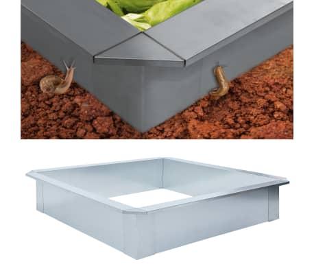 vidaXL Snigelkant galvaniserat stål 100x100x25 cm