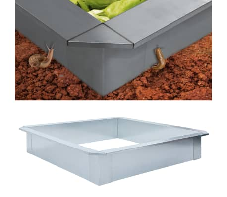 vidaXL Snigelkant galvaniserat stål 150x150x25 cm