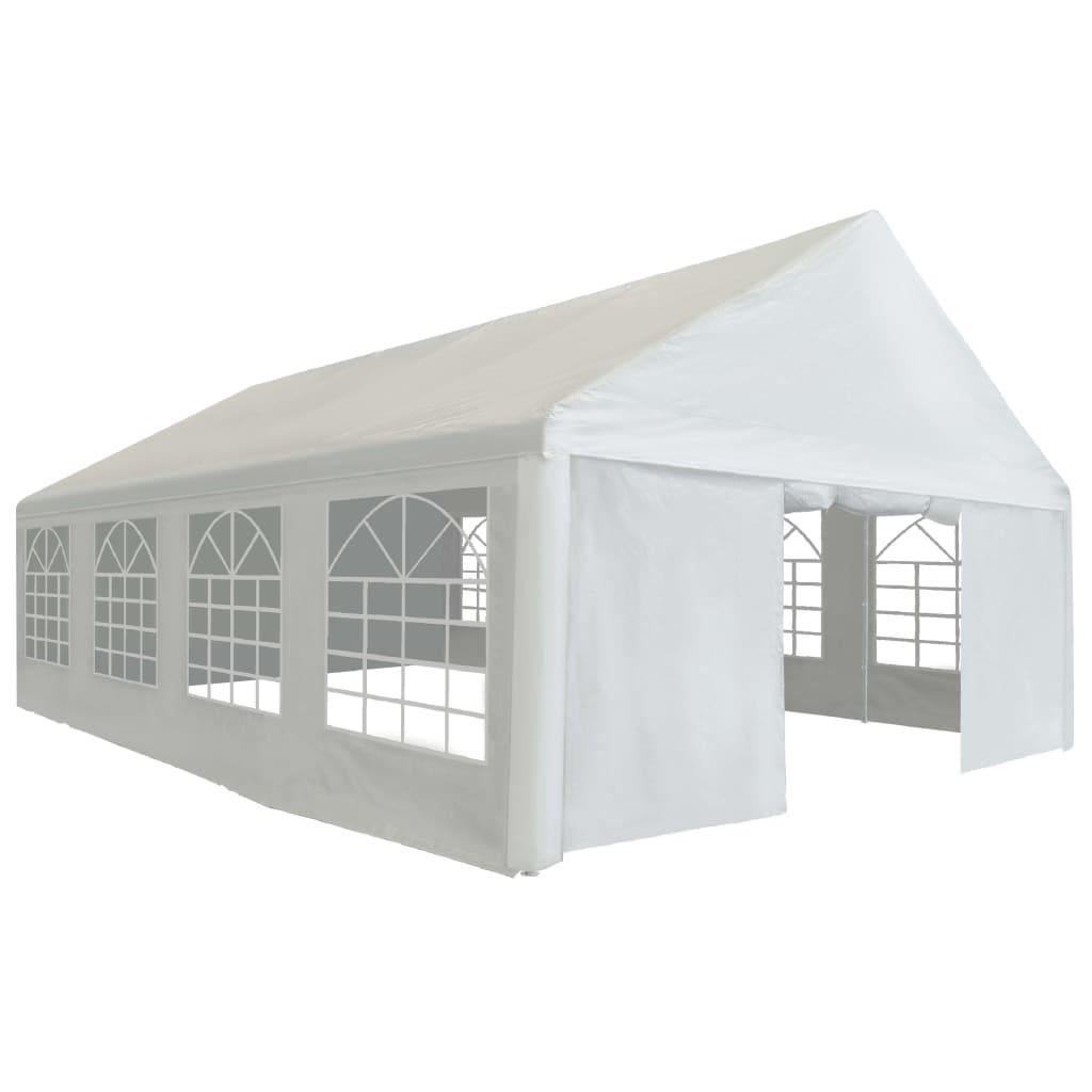 vidaXL Cort de petrecere, alb, 5 x 8 m, PE imagine vidaxl.ro