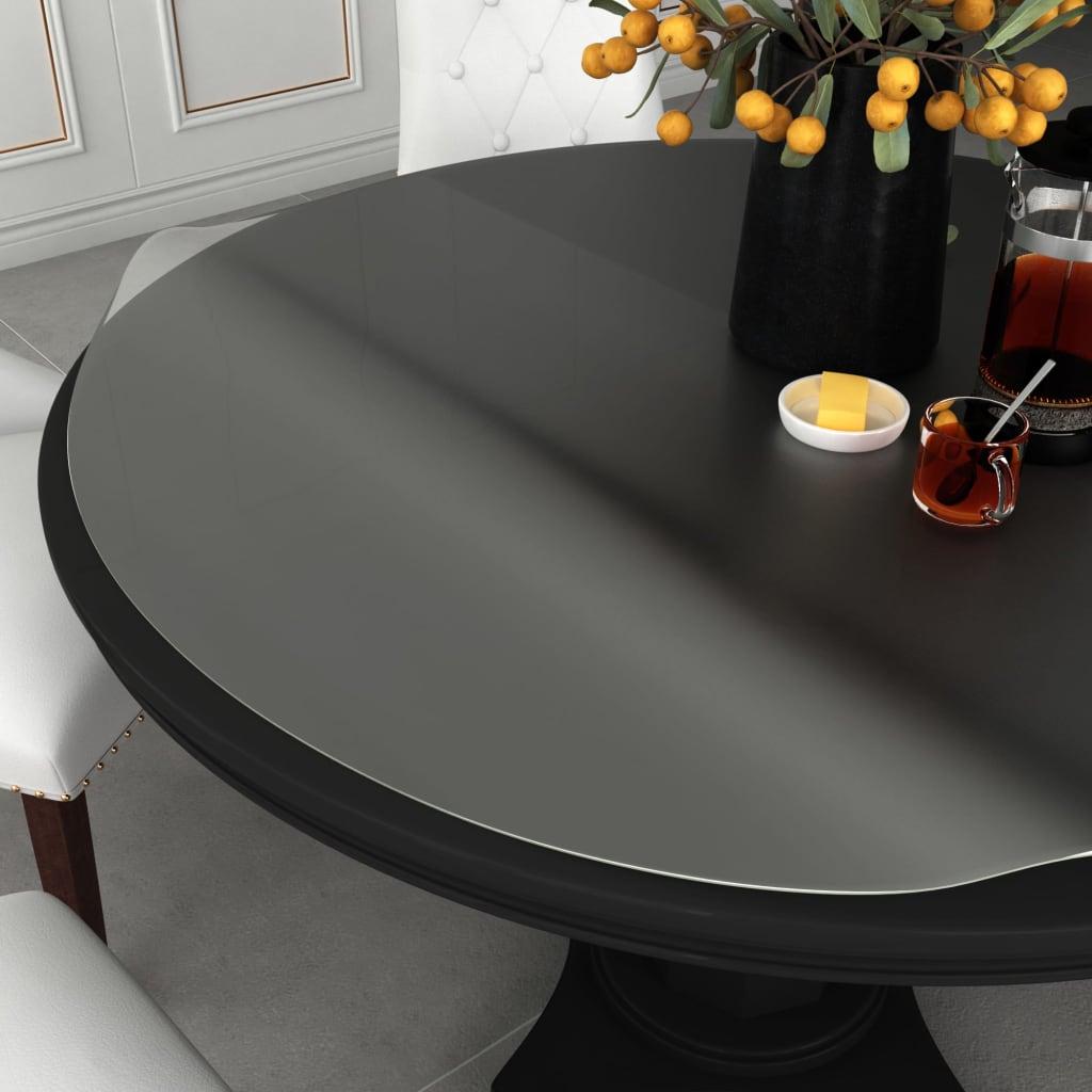 vidaXL Ochranná fólie na stůl matná Ø 80 cm 2 mm PVC