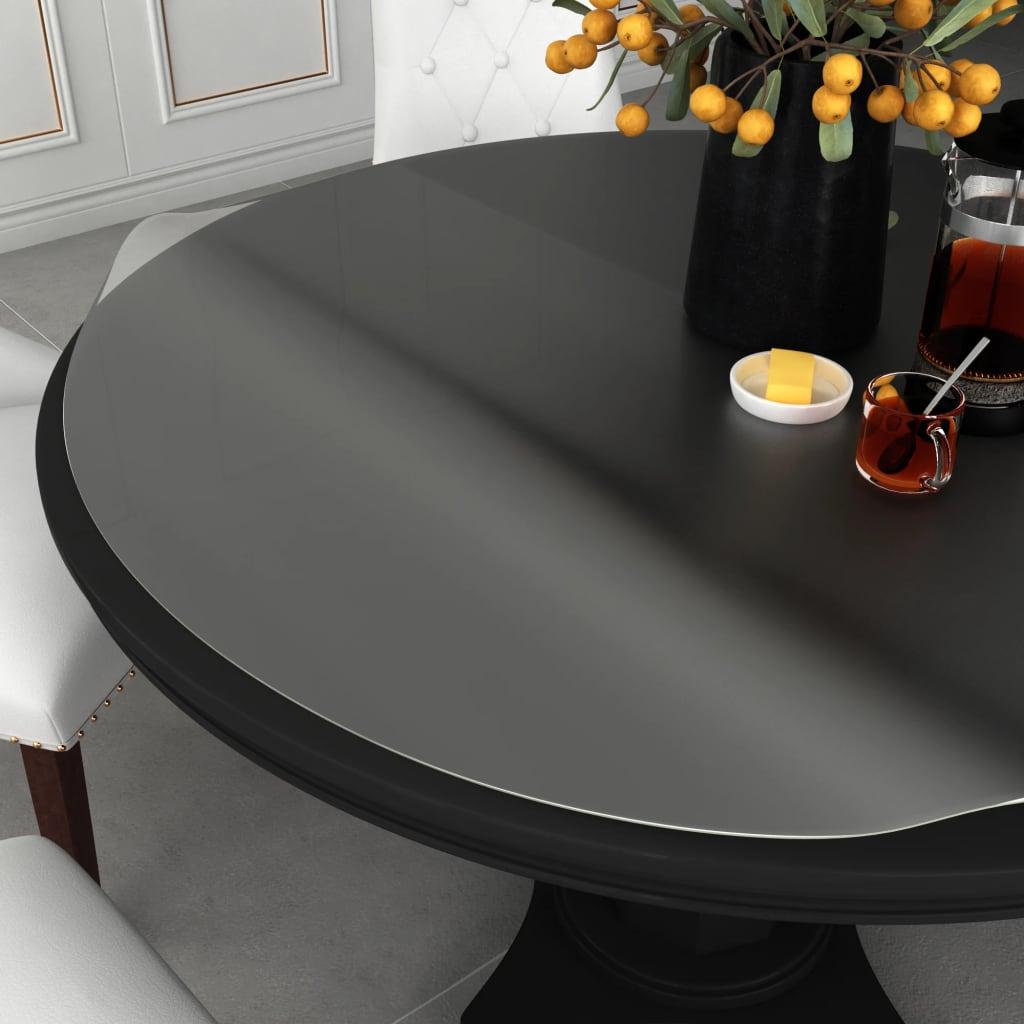 vidaXL Folie de protecție masă, mat, Ø 100 cm, PVC, 2 mm poza 2021 vidaXL