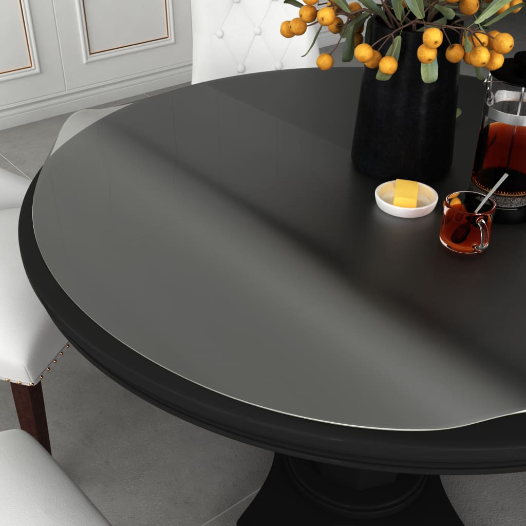 vidaXL Ochranná fólie na stůl průhledná Ø 100 cm 2 mm PVC
