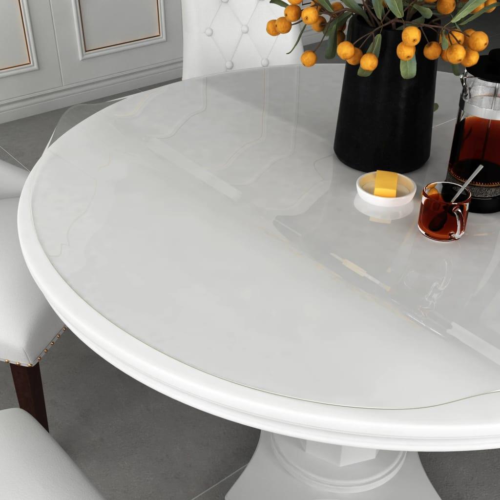 vidaXL Folie de protecție masă, transparent, Ø 120 cm, PVC, 2 mm poza vidaxl.ro