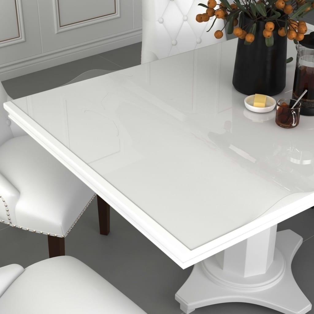 vidaXL Folie de protecție masă, transparent, 120 x 60 cm, PVC, 2 mm poza 2021 vidaXL