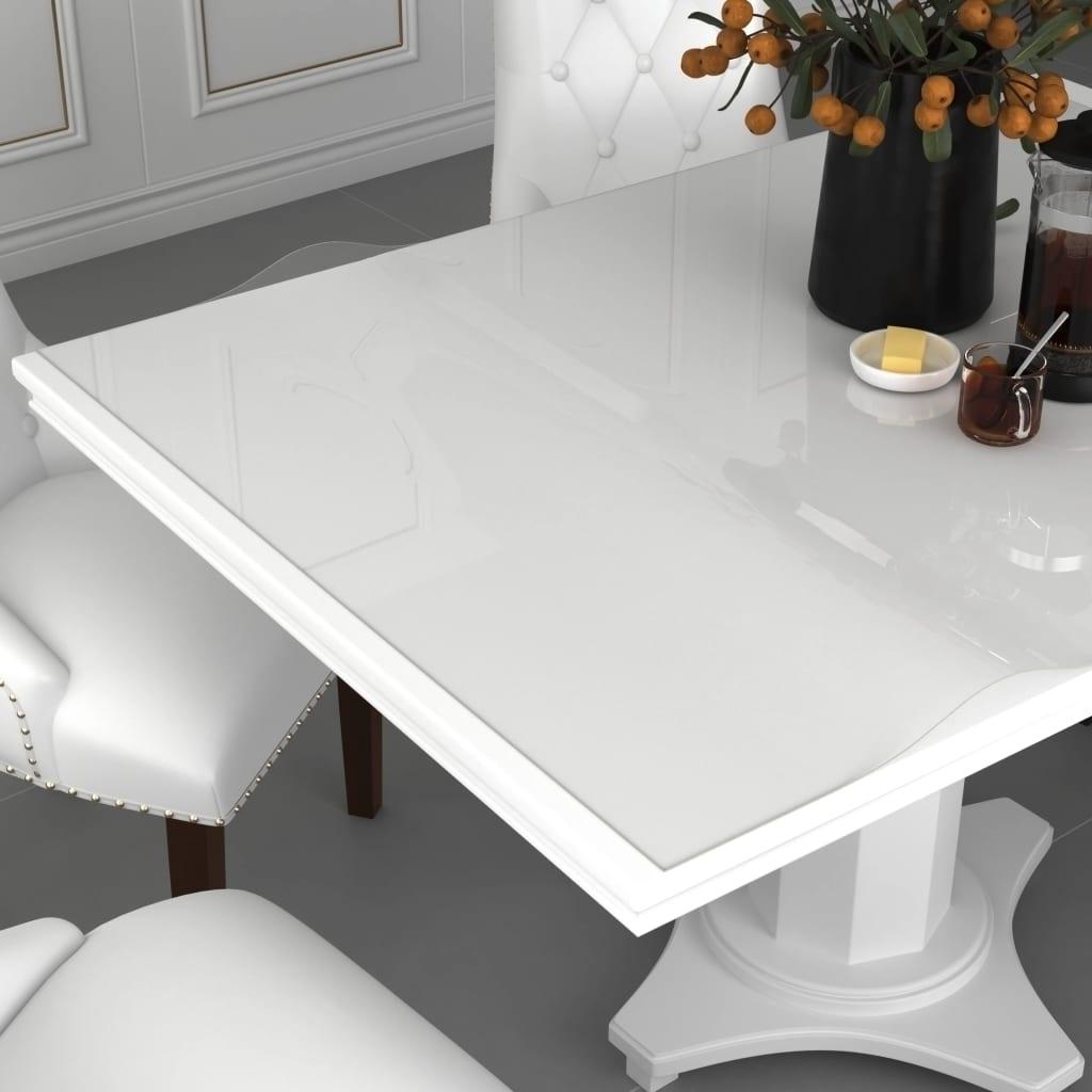 vidaXL Folie de protecție masă, transparent,140 x 90 cm, PVC, 2 mm poza 2021 vidaXL
