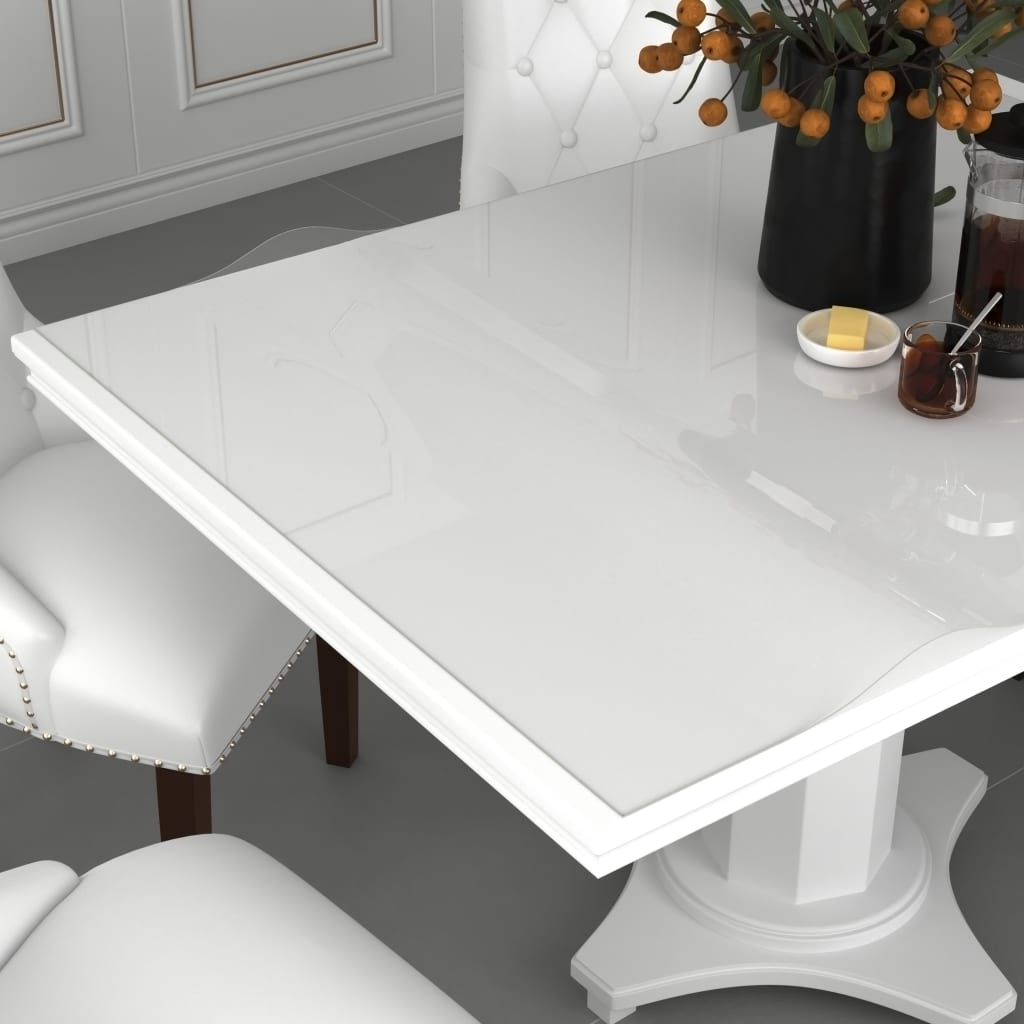 vidaXL Folie de protecție masă, transparent, 70 x 70 cm, PVC, 2 mm imagine vidaxl.ro