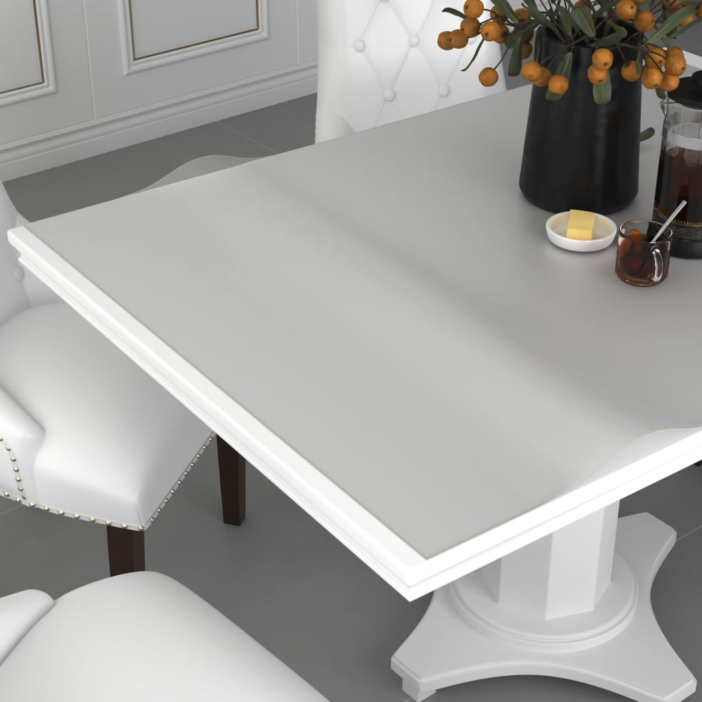 vidaXL Folie de protecție masă, mat, 70 x 70 cm, PVC, 2 mm imagine vidaxl.ro
