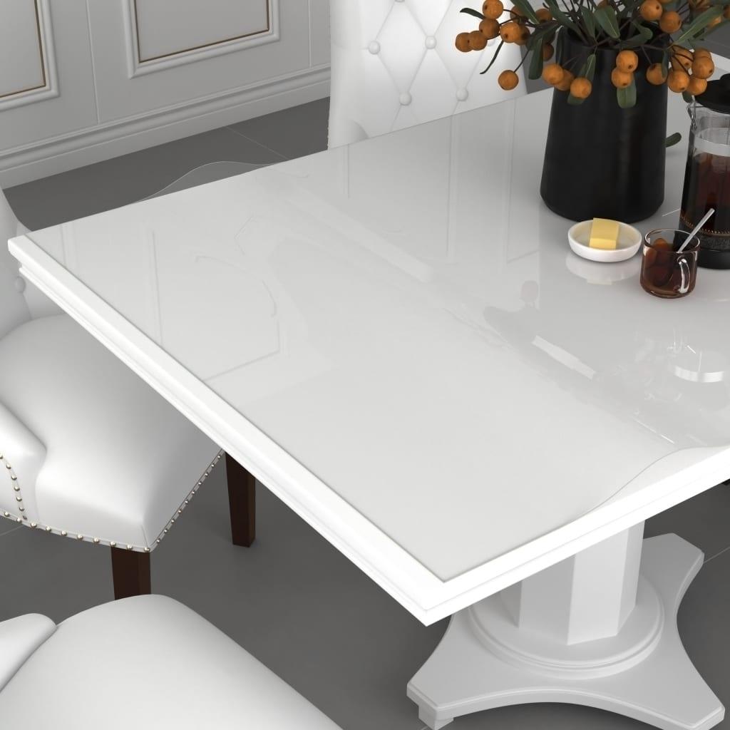 Ochranná fólie na stůl průhledná 80 x 80 cm 2 mm PVC