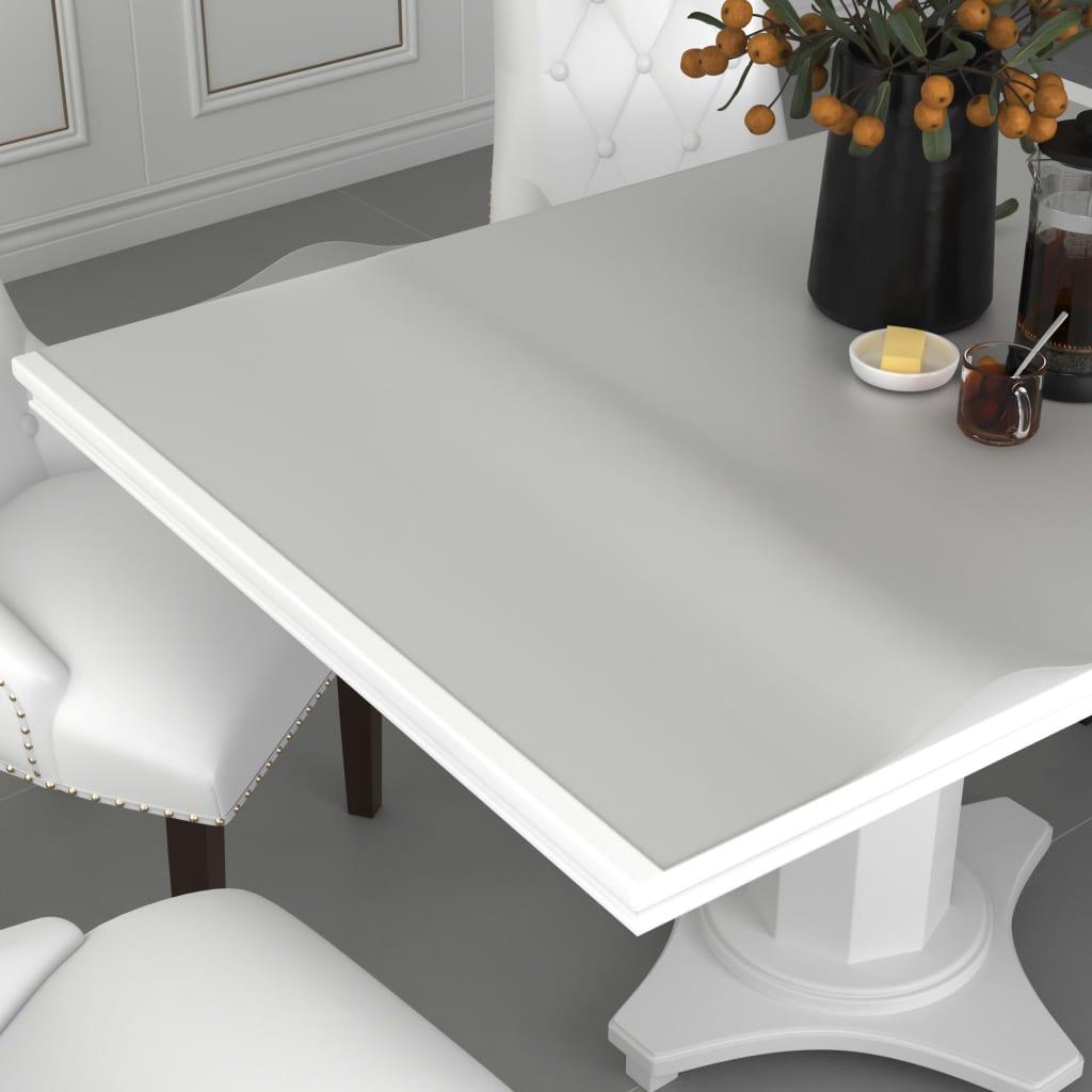 vidaXL Folie de protecție masă, mat, 80 x 80 cm, PVC, 2 mm imagine vidaxl.ro