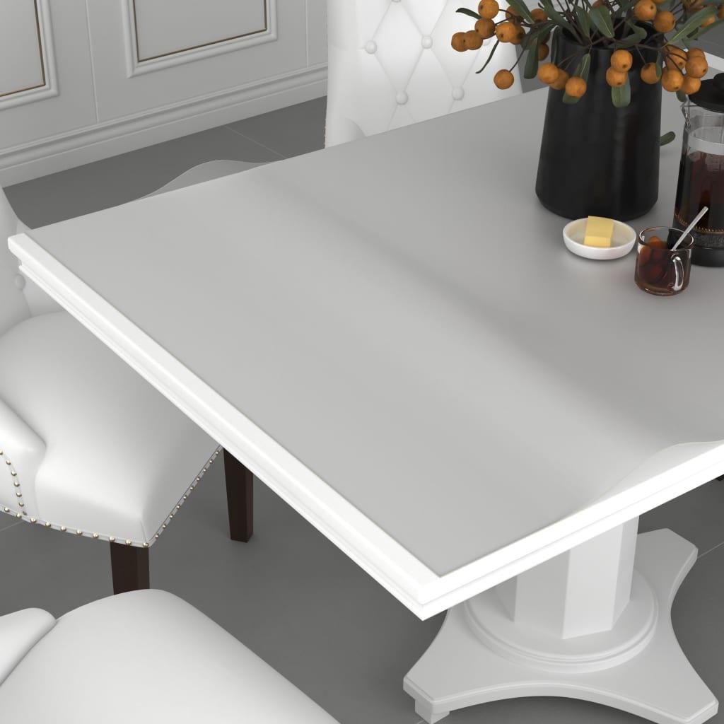 vidaXL Folie de protecție masă, mat, 90 x 90 cm, PVC, 2 mm imagine vidaxl.ro