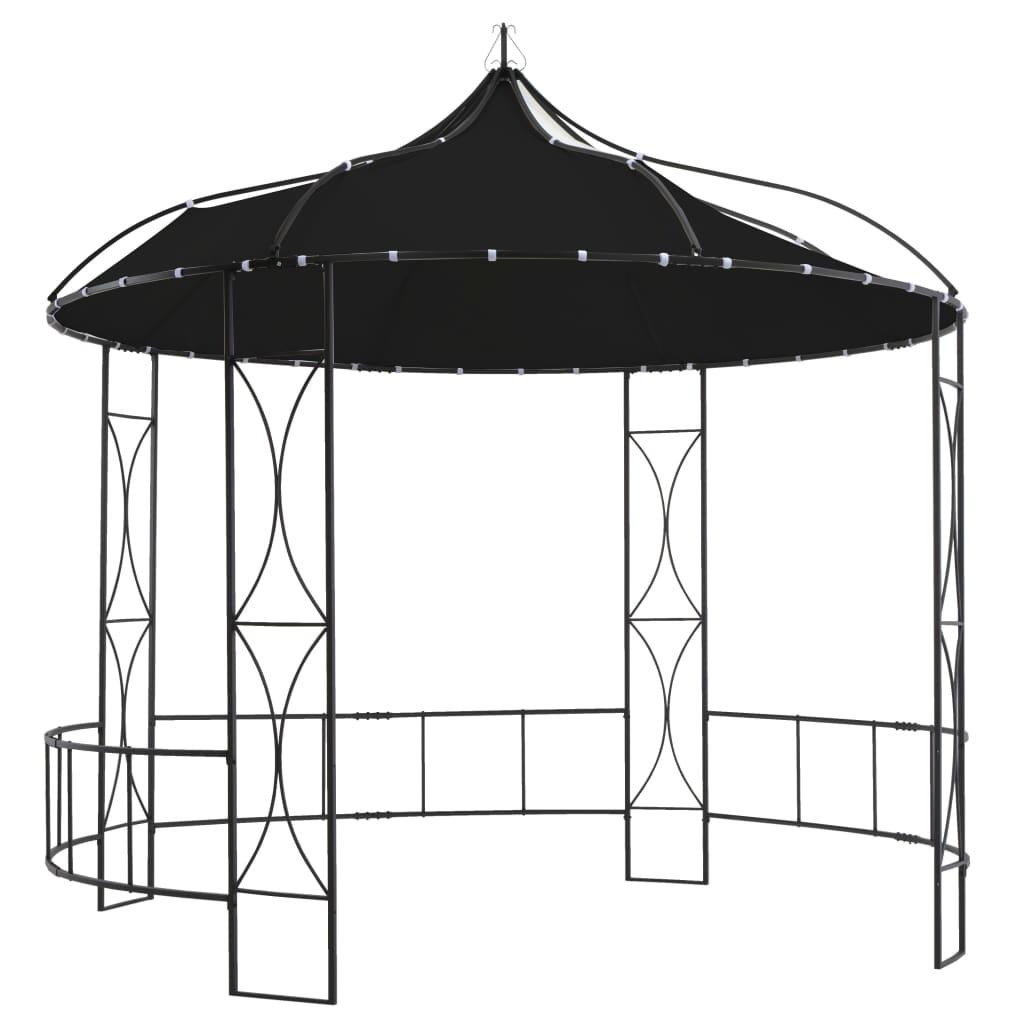 vidaXL Pavilion, antracit, 300 x 290 cm, rotund poza vidaxl.ro