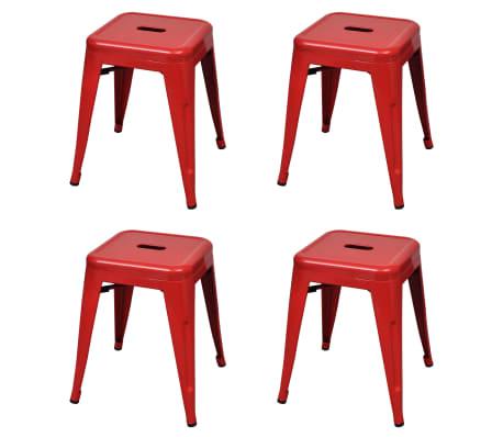 vidaXL Stapelbara pallar 4 st röd stål