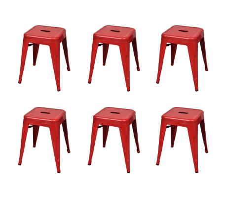 vidaXL Stapelbara pallar 6 st röd stål