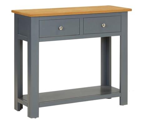 vidaXL Konzolový stolík 83x30x73 cm dubový masív