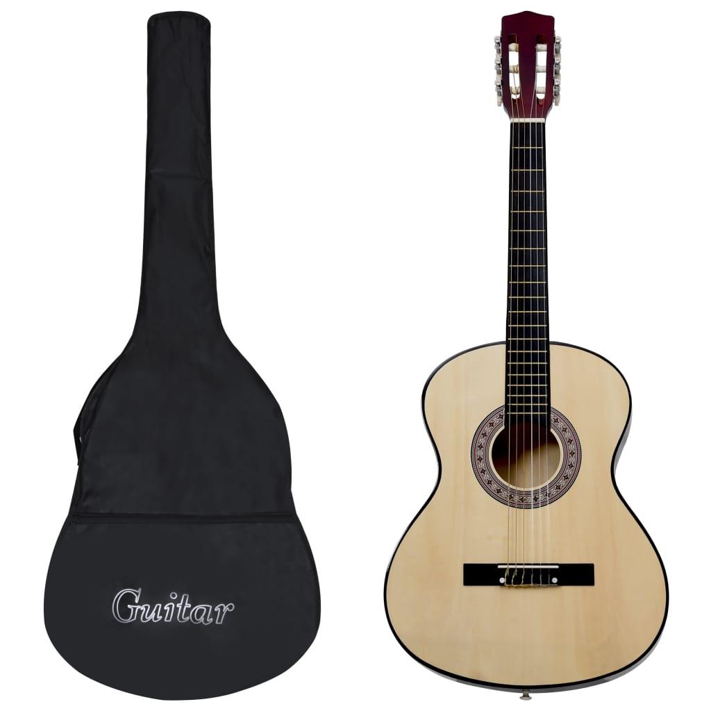 12dílný set klasická kytara pro začátečníky 4/4 39''