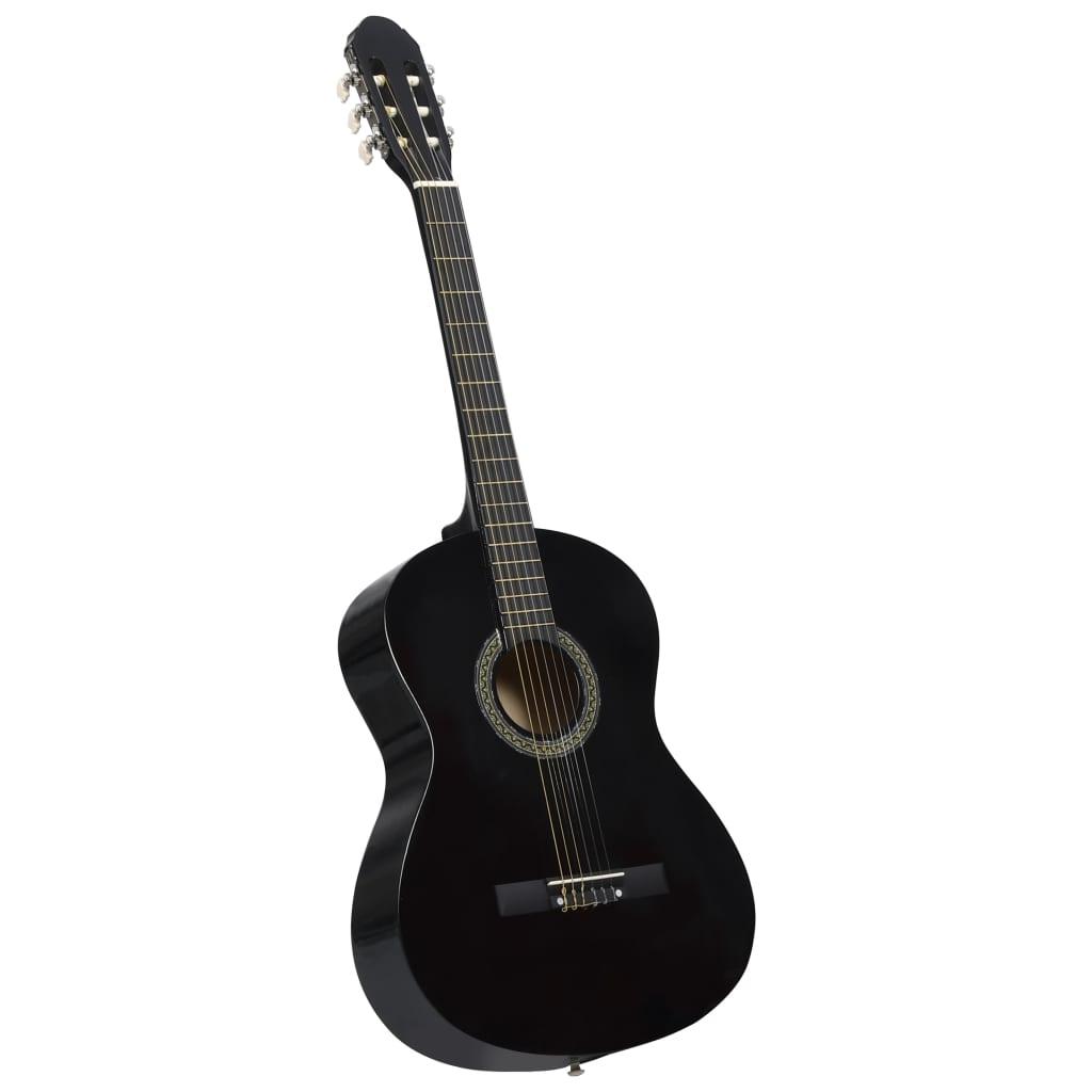 Klasická kytara pro začátečníky černá 4/4 39'' basswood