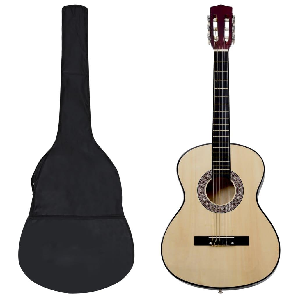 """vidaXL Set de chitară clasică copii și începători, 8 piese, 3/4 36"""" poza vidaxl.ro"""