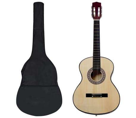 "vidaXL Jeu de guitare classique d'enfants et débutants 8 pcs 3/4 36"""