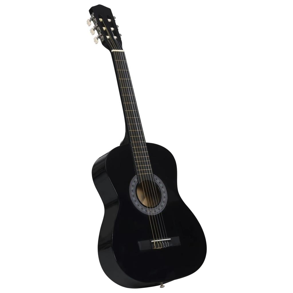 Klasická kytara pro začátečníci a děti černá 3/4 36''