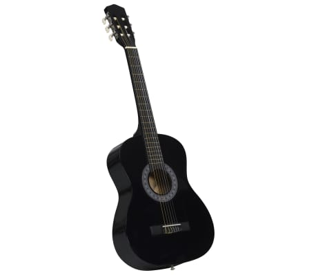 """vidaXL Guitare classique de débutants et enfants Noir 3/4 36"""""""