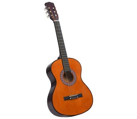 """vidaXL Guitare classique de débutants et enfants 3/4 36"""" Tilleul"""