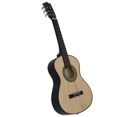 """vidaXL Guitare classique de débutants et enfants 1/2 34"""" Tilleul"""