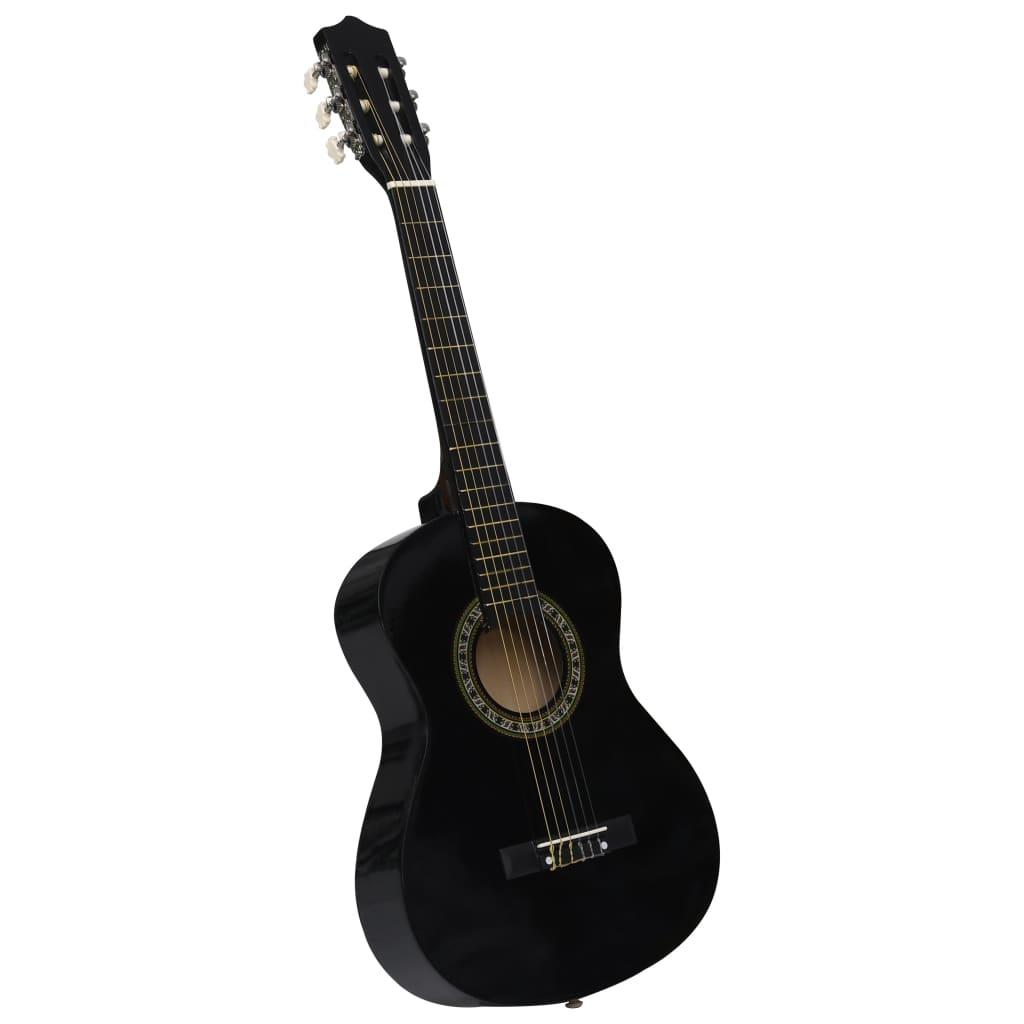 Klasická kytara pro začátečníci a děti černá 1/2 34''
