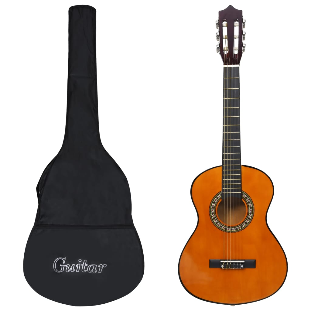 8dílný set klasická kytara pro začátečníky a děti 1/2 34''