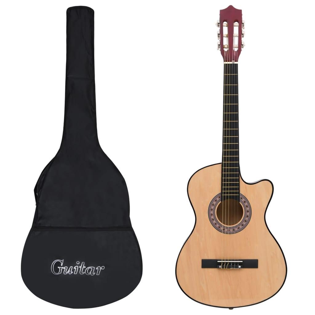 12dílný set folková akustická cutaway kytara se 6 strunami 38''