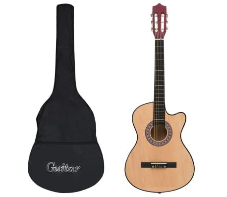 """vidaXL Akustisk gitarr 12 delar med 6 strängar western 38"""""""