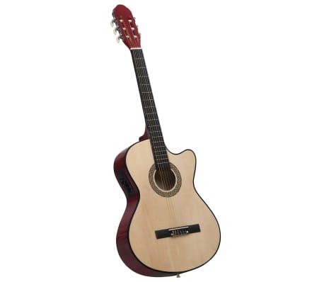 vidaXL Guitare acoustique à pan coupé western et égaliseur et 6 cordes