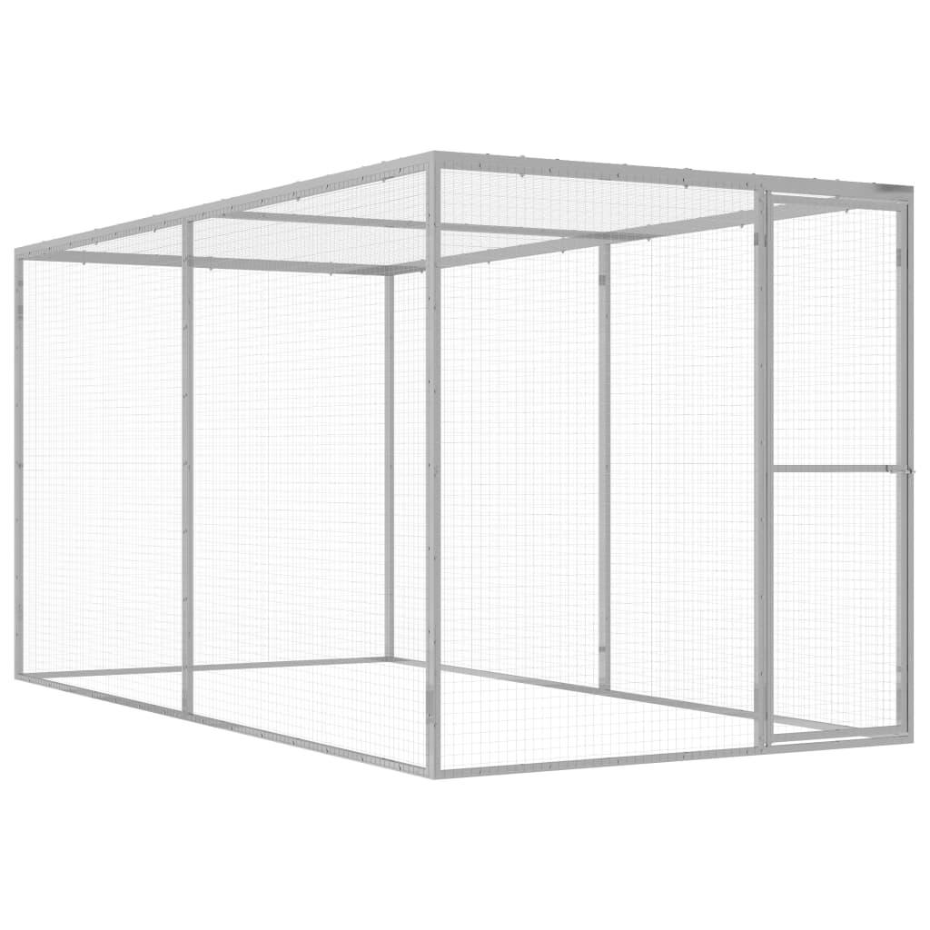vidaXL Cușcă pentru pisici, 3x1,5x1,5 m, oțel galvanizat vidaxl.ro