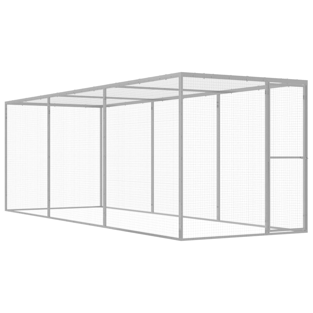 vidaXL Cușcă pentru pisici, 4,5 x 1,5 x 1,5 m, oțel galvanizat vidaxl.ro