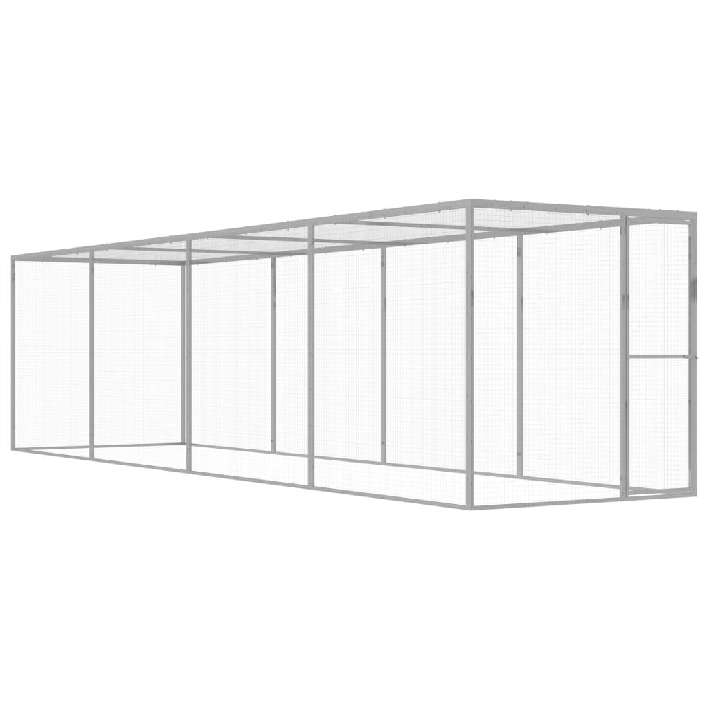 vidaXL Cușcă pentru pisici, 6 x 1,5 x 1,5 m, oțel galvanizat vidaxl.ro