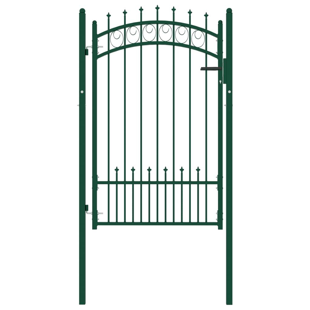 Poort met speerpunten 100x150 cm staal groen
