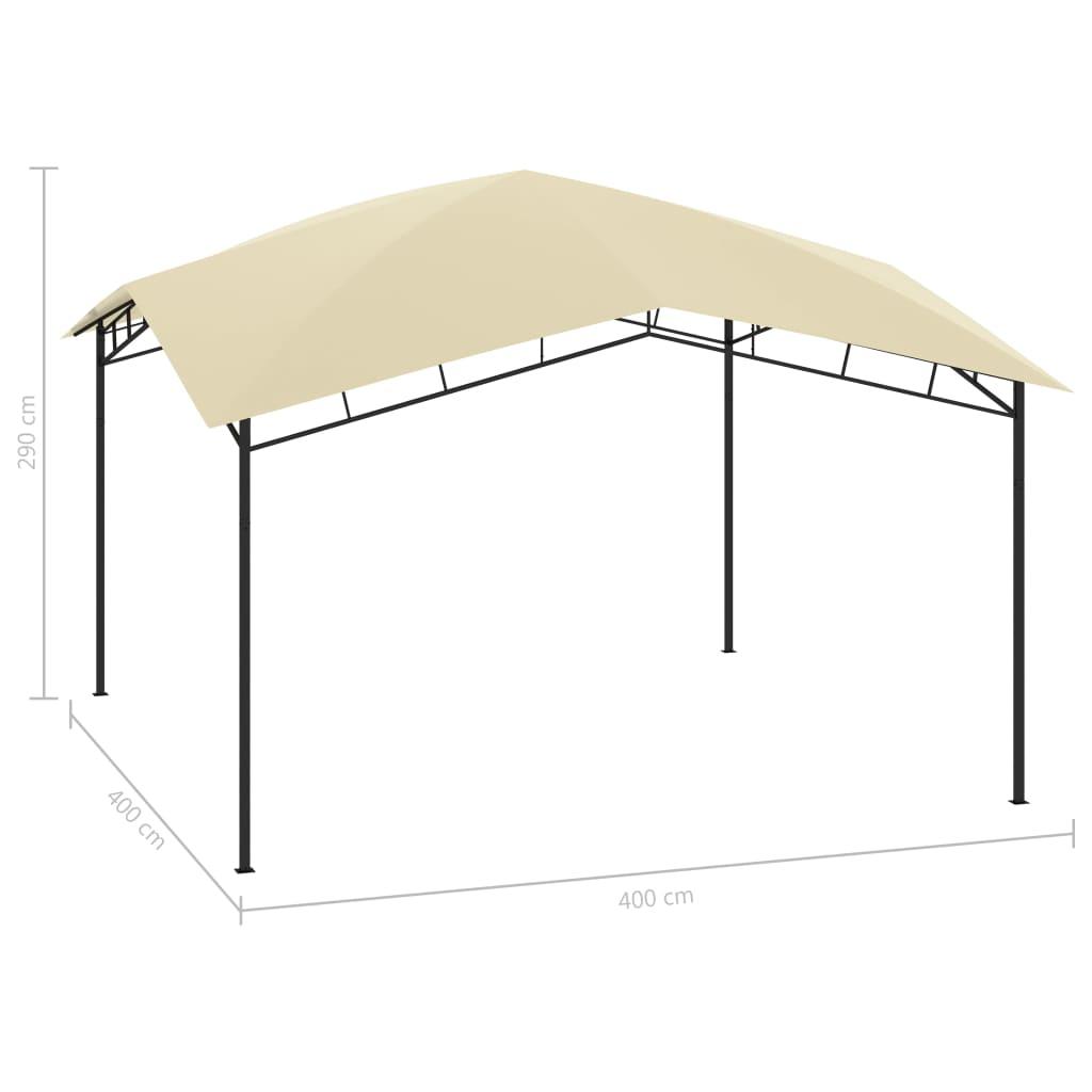 Tuinprieel 180 g/m² 4x4x2,9 m crème