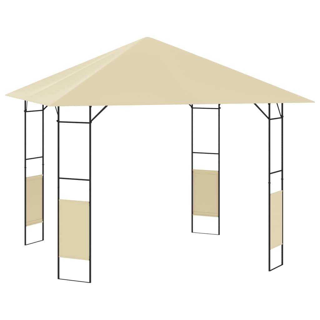 vidaXL Pavilion de grădină, crem, 3 x 3 x 2,6 m, 160 g/m² imagine vidaxl.ro